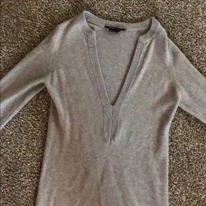 BCBGMAXAZRIA gray tunic dress